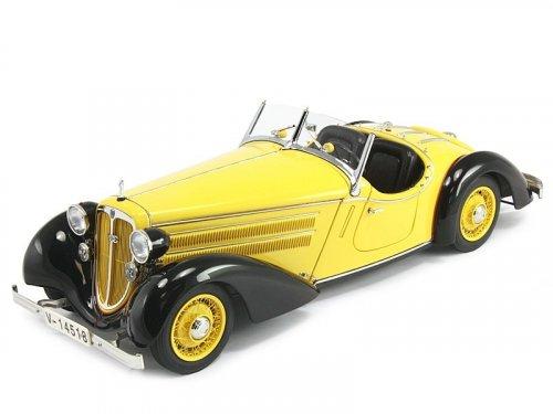 1:18 CMC AUDI 225 FRONT ROADSTER BLACK/YELLOW 1935