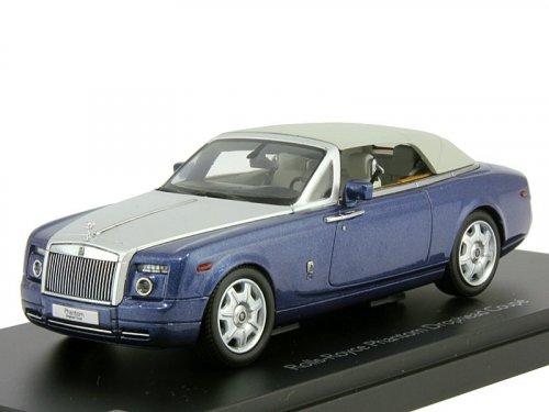 1:43 Kyosho Rolls Royce Phantom Drophead Coupe Metropolitan Blue