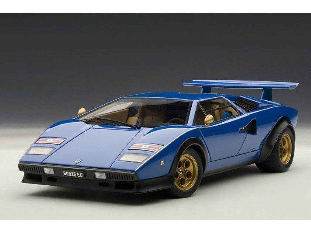 1:18 AUTOart LAMBORGHINI COUNTACH LP500S WALTER WOLF EDITION 1976 (BLUE)