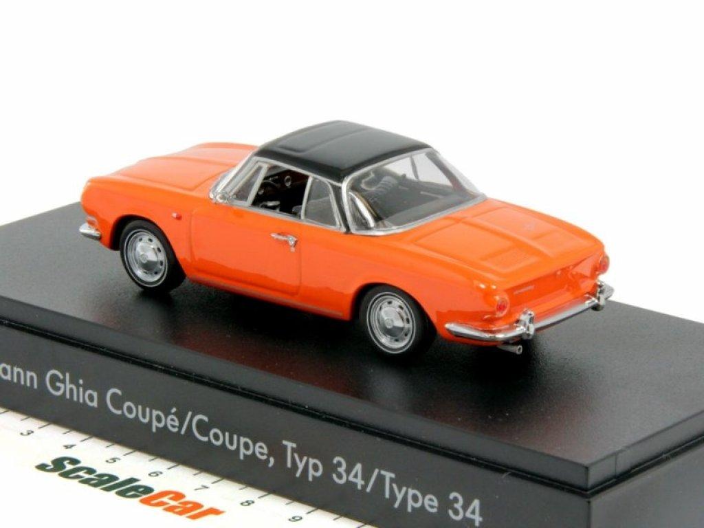 1:43 Minichamps Volkswagen Karmann Ghia Coupe Type 34 1961 оранжевый