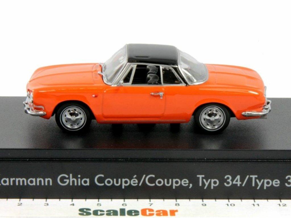 1:43 Minichamps Volkswagen Karmann Ghia Coupe Type34 1961 оранжевый