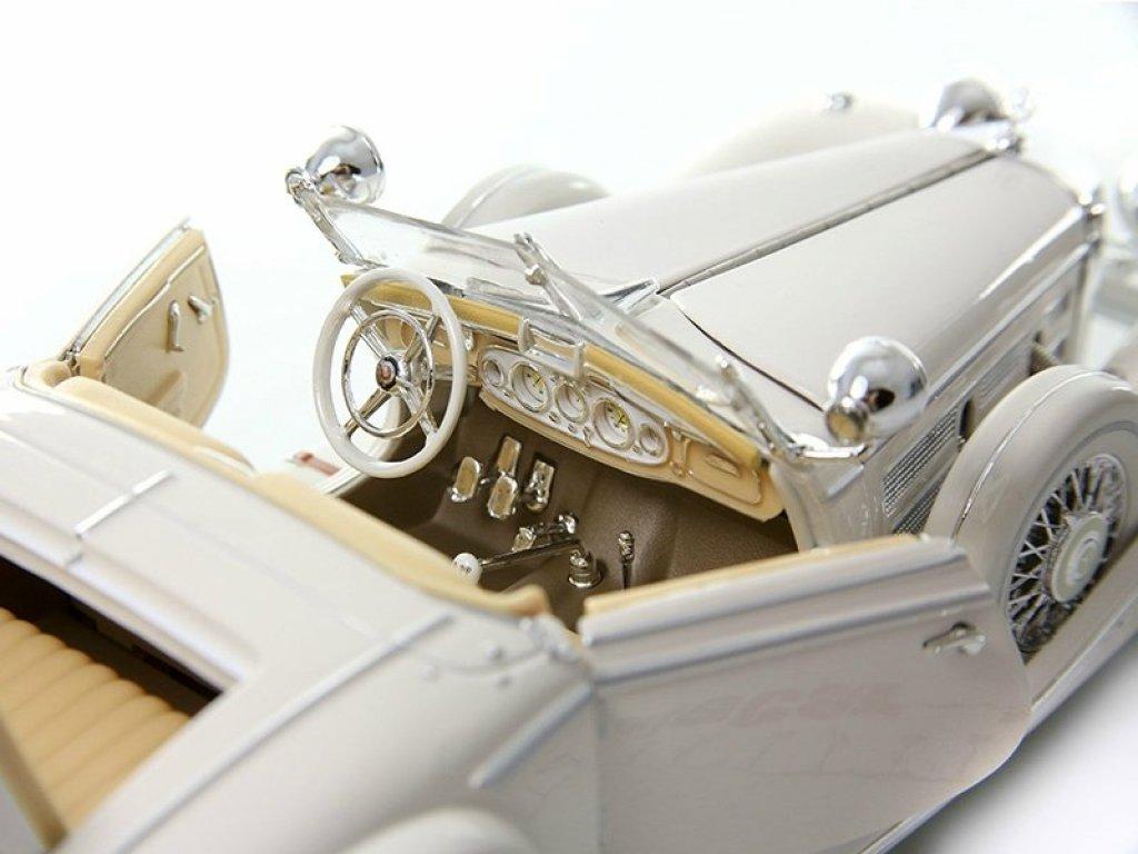 1:18 Maisto Mercedes-Benz 500К W29 белый Махараджа