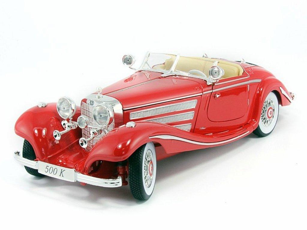 1:18 Maisto Mercedes-Benz 500 K W29 Spezial-Roadster 1936 красный