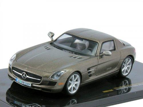 1:43 IXO Mercedes-Benz SLS AMG C197 2010 матовый серый металлик