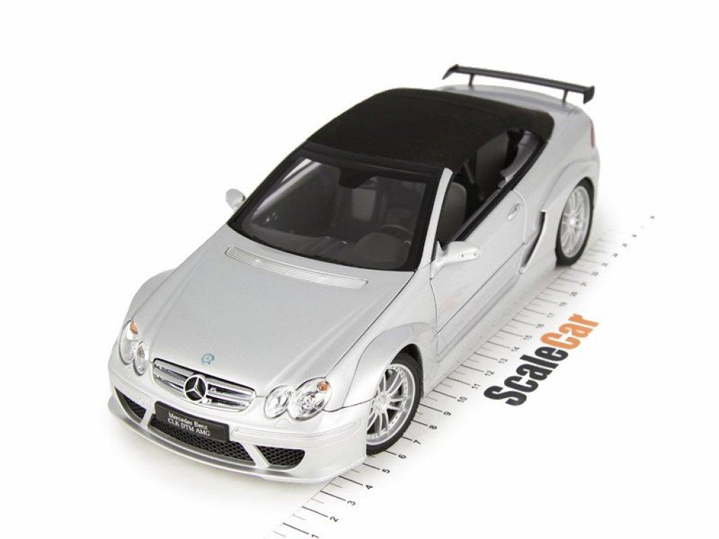 1:18 Kyosho Mercedes-Benz CLK DTM AMG Convertible A209 серебристый