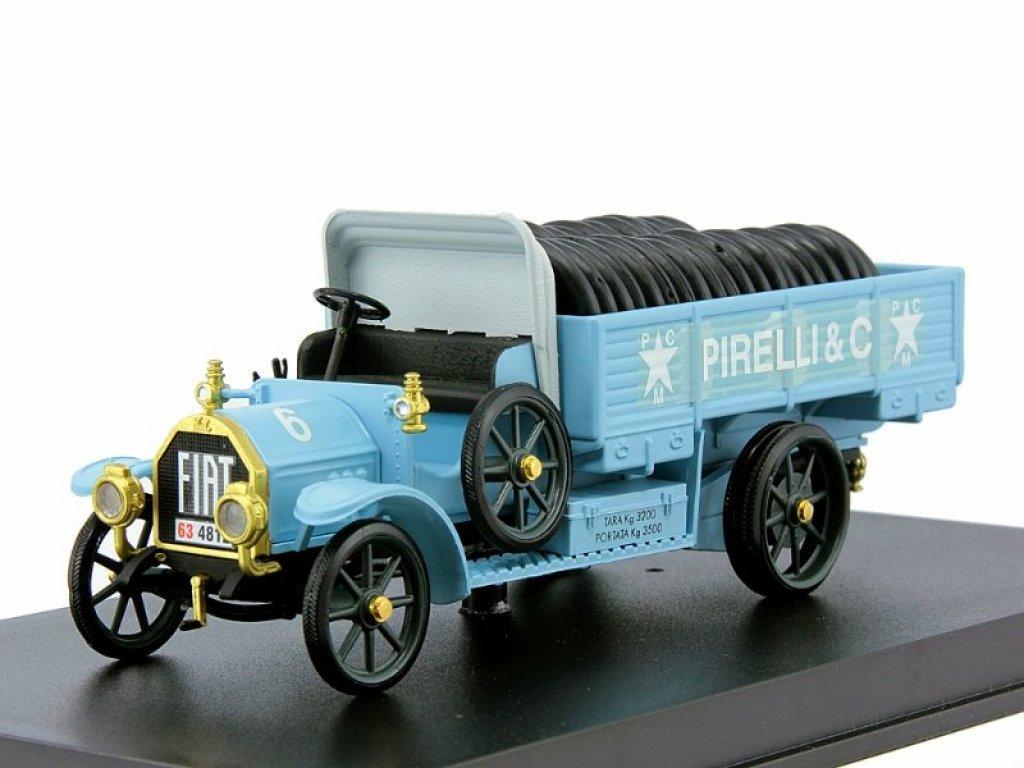 1:43 Rio FIAT 18 BL – Pirelli 1917 голубой с шинами в кузове