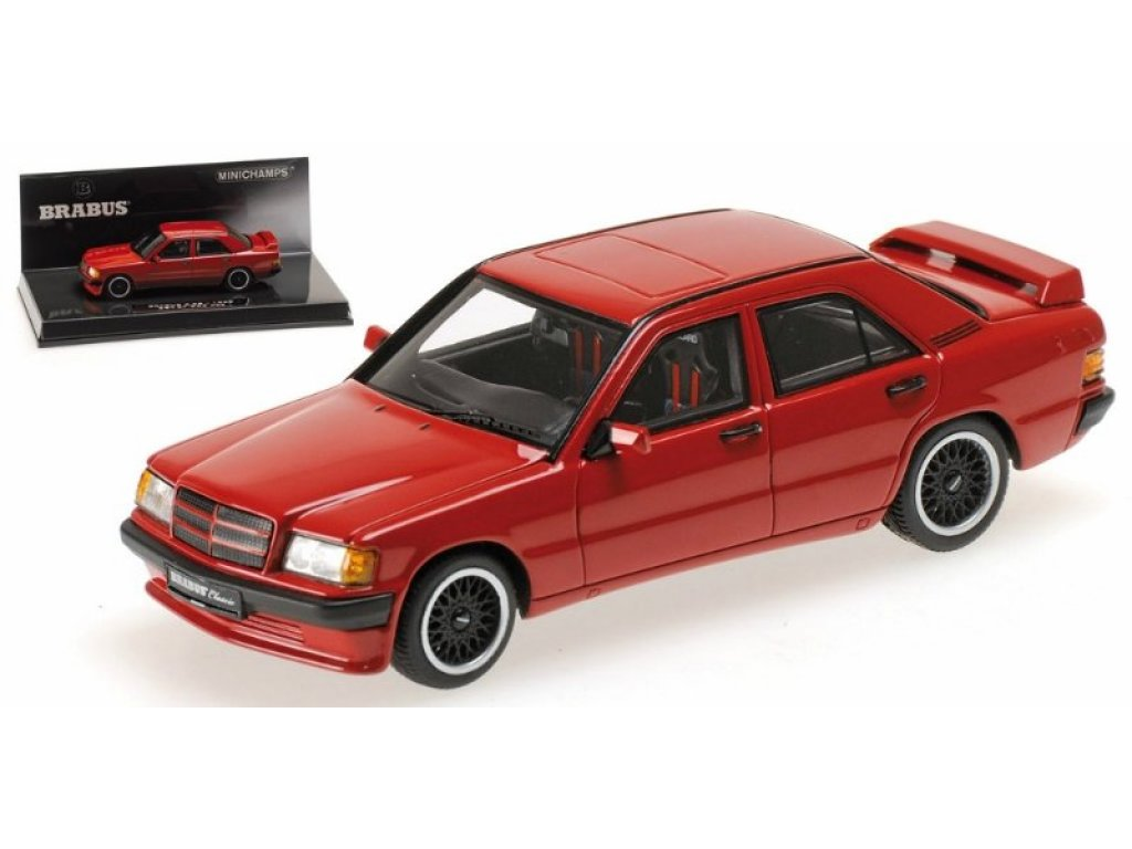 1:43 Minichamps Mercedes-Benz BRABUS 190E 3.6S (W201) - 1989 - RED (красный)