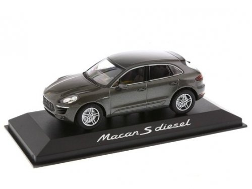 1:43 Minichamps Porsche Macan S diesel темносерый