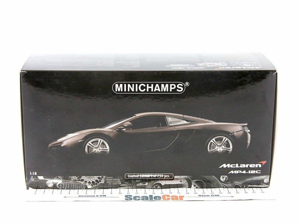 1:18 Minichamps MCLAREN MP4-12C 2011 серый матовый