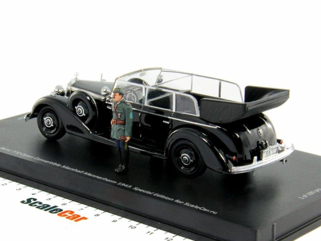 1:43 Rio Mercedes-Benz 770K Cabriolet F маршала Карла Маннергейма 1943 открытый кабриолет с фигуркой (специальное издание, тираж 100 шт.)