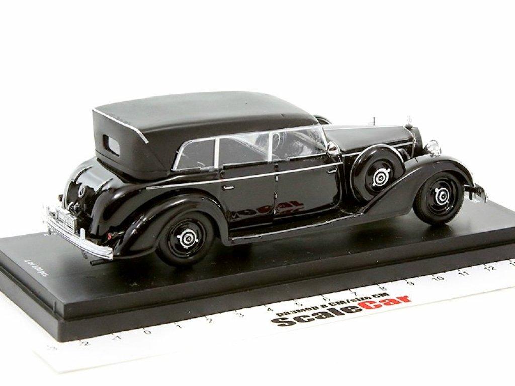 1:43 Rio Mercedes-Benz 770F 16 декабря 1941 (подарок Маршалу Маннергейму) оригинальный тент, утеплитель на решетке радиатора