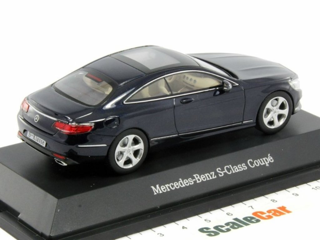 1:43 Kyosho Mercedes-Benz S-class Coupe 2014 C217 синий мет