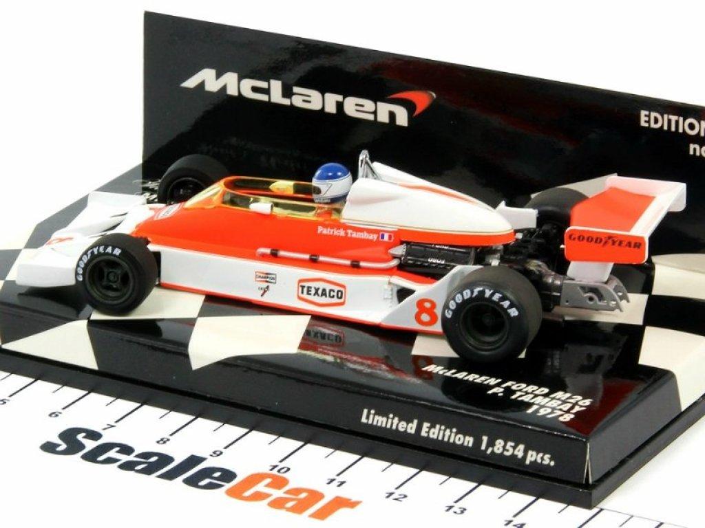 1:43 Minichamps McLaren Ford M26 Patrick Tambay 1978 с детализированным двигателем