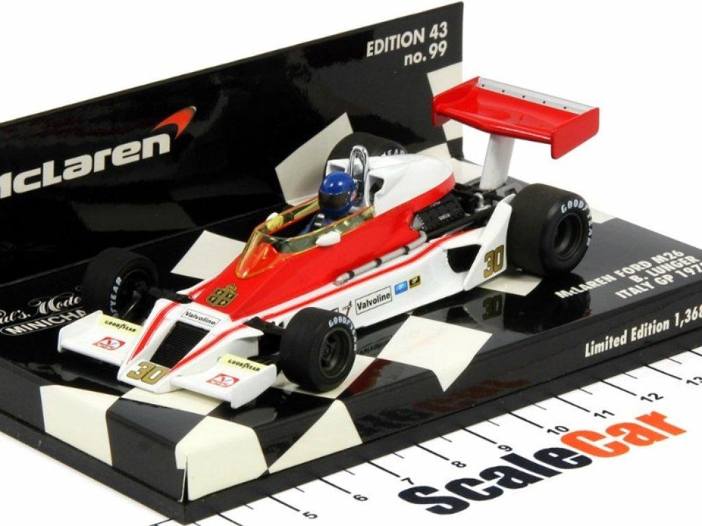 1:43 Minichamps McLaren Ford M26 Lark/Chesterfield - Brett Lunger 1978 с детализированным двигателем