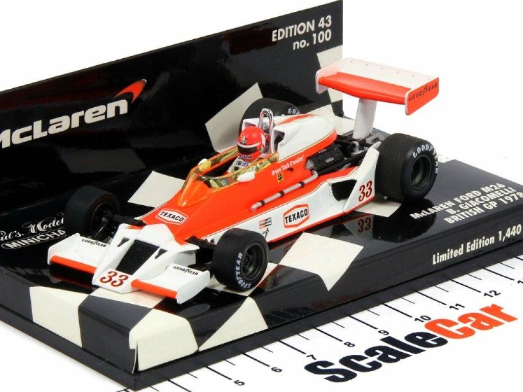 1:43 Minichamps McLaren Ford M26 Bruno Giacomelli 1978 с детализированным двигателем