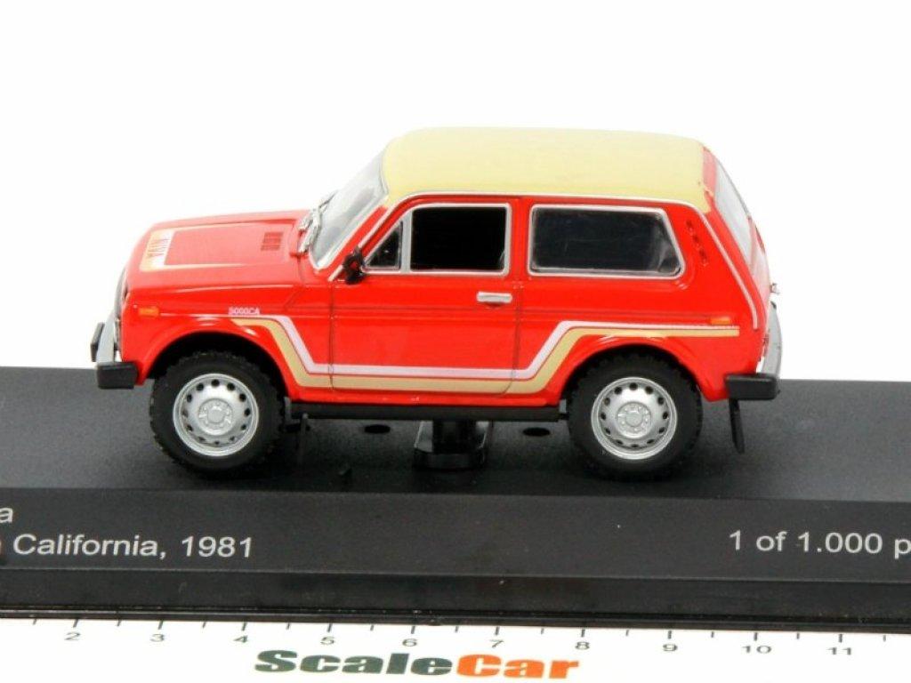 1:43 WhiteBox ВАЗ-2121 LADA Niva California 1981 красный с бежевым