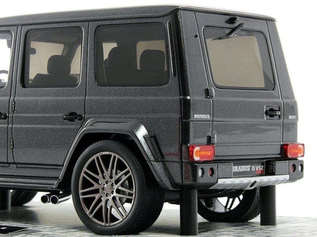 1:18 Minichamps Brabus G V12 800 Widestar (Mercedes-Benz G-klasse W463 2011) серый (важные сведения о модели в описании)