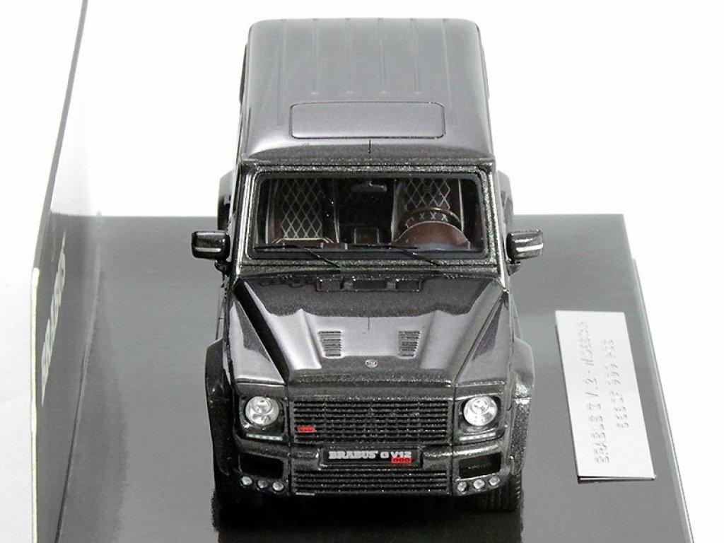 1:43 Minichamps Brabus G V12 800 WideStar (Mercedes-Benz G-klasse W463 2011) серый