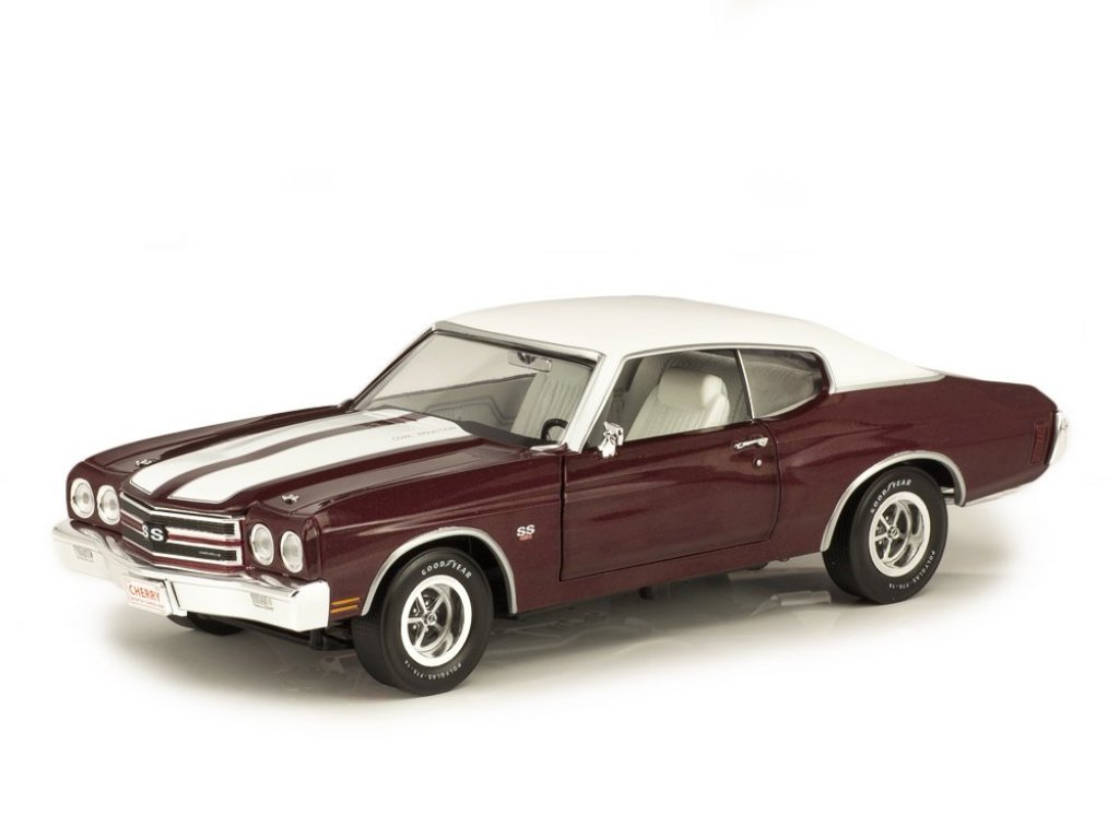 1:18 Auto World Chevrolet Chevelle SS 1970 бордовый