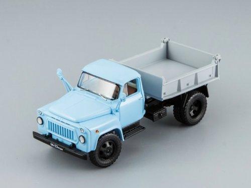 1:43 DiP Models САЗ 3504 самосвал 1975 (голубая кабина, серый кузов)