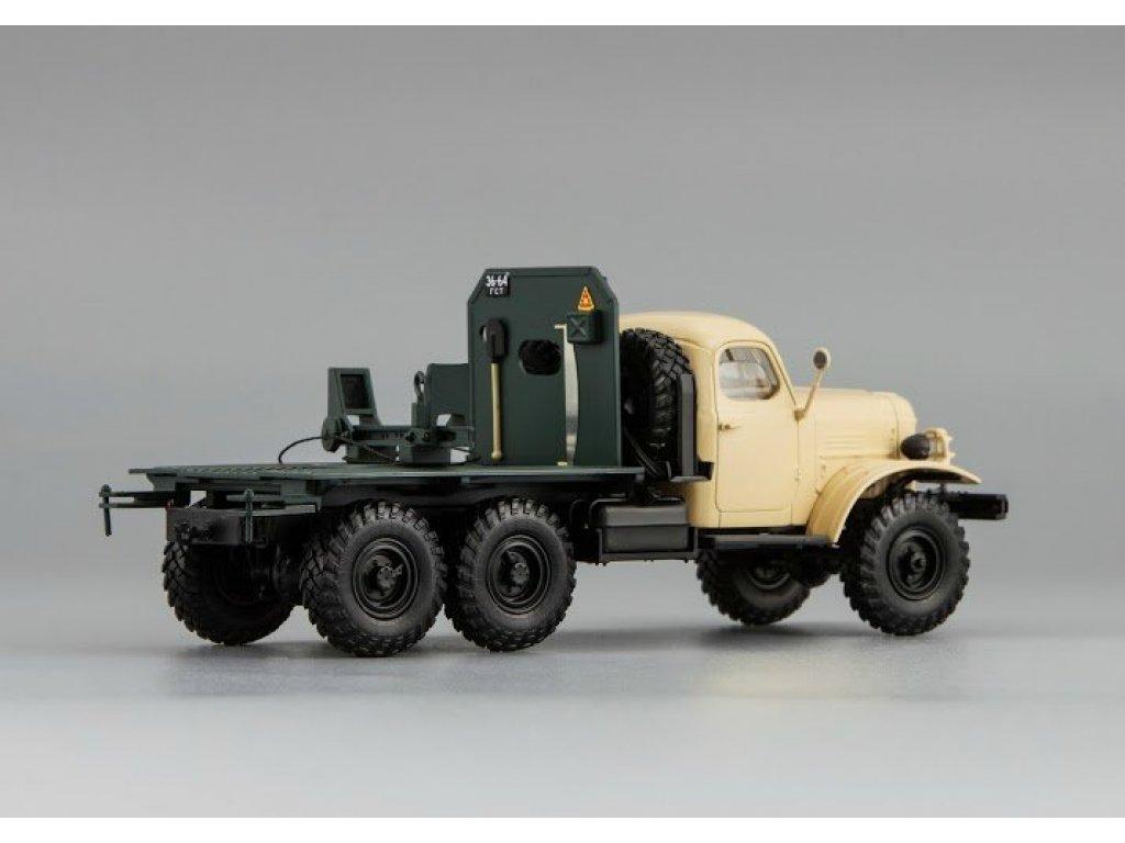 1:43 DiP Models ЗИЛ 157К/ТВ-5 - тягач с роспуском для перевозки труб большого диаметра, бежевый