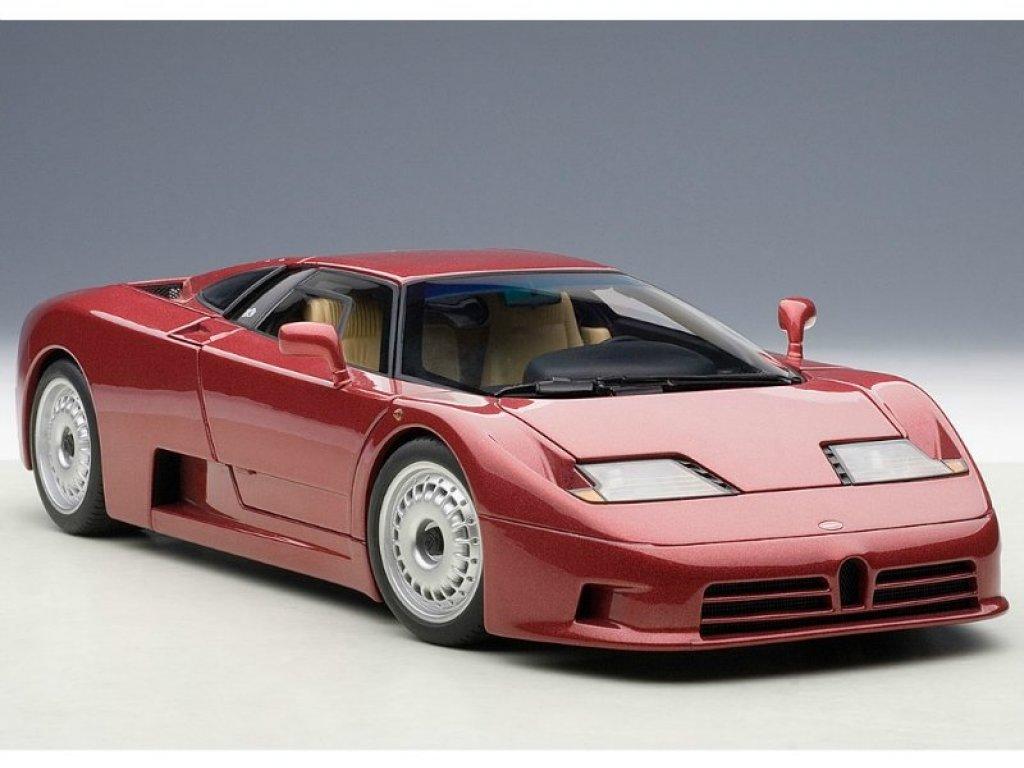 1:18 AUTOart Bugatti EB110 GT 1991 (dark red) темно-красный