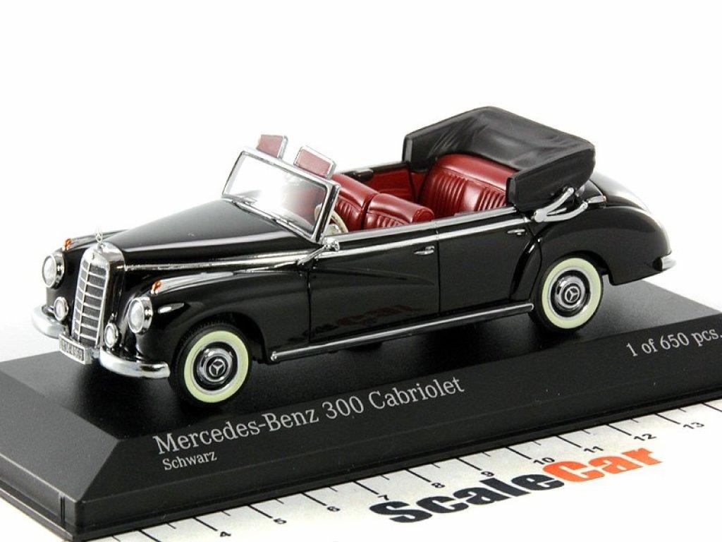 1:43 Minichamps Mercedes-Benz 300 cabriolet (W186) черный