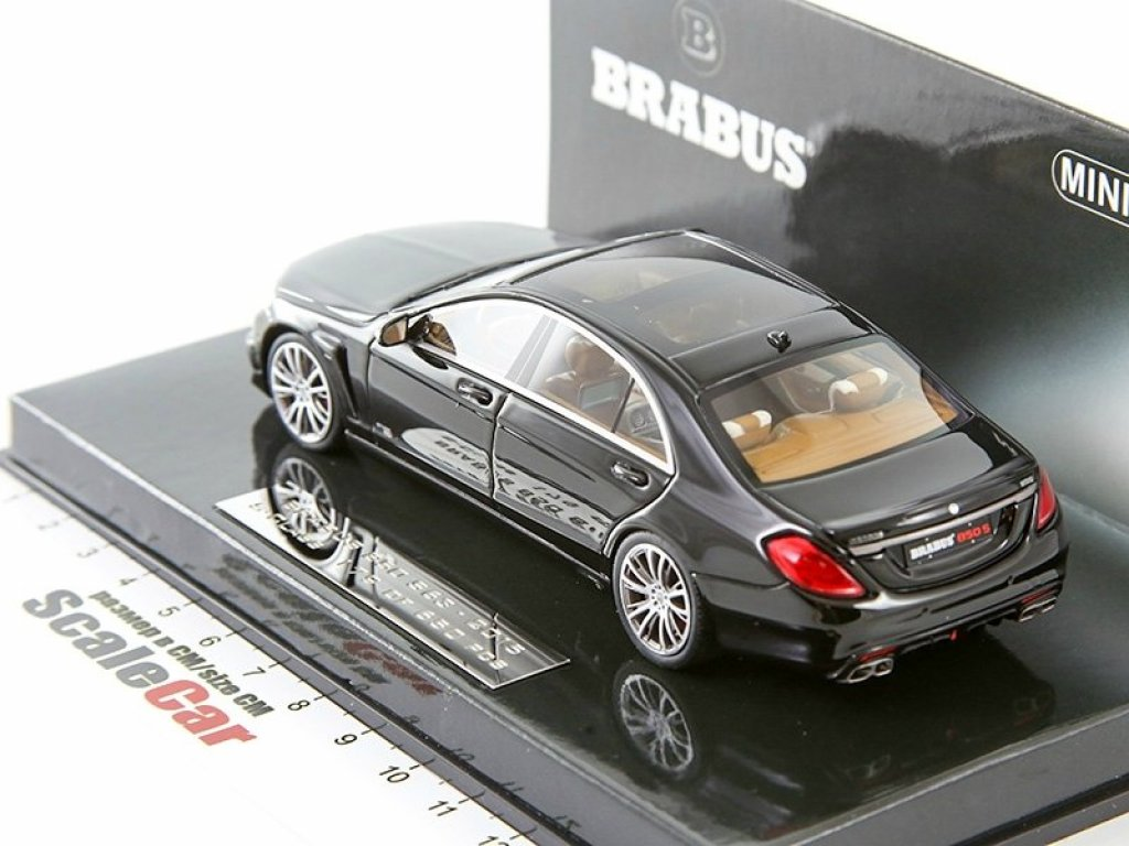1:43 Minichamps BRABUS 850 S63 (Mercedes-Benz S-classe W222) 2014 черный.