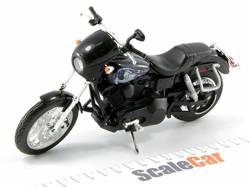 1:12 Maisto Мотоцикл Harley-Davidson Dyna Super Glide Sport 2003 Jackson JAX Teller из т/с Sons Of Anarchy (Сыны Анархии)