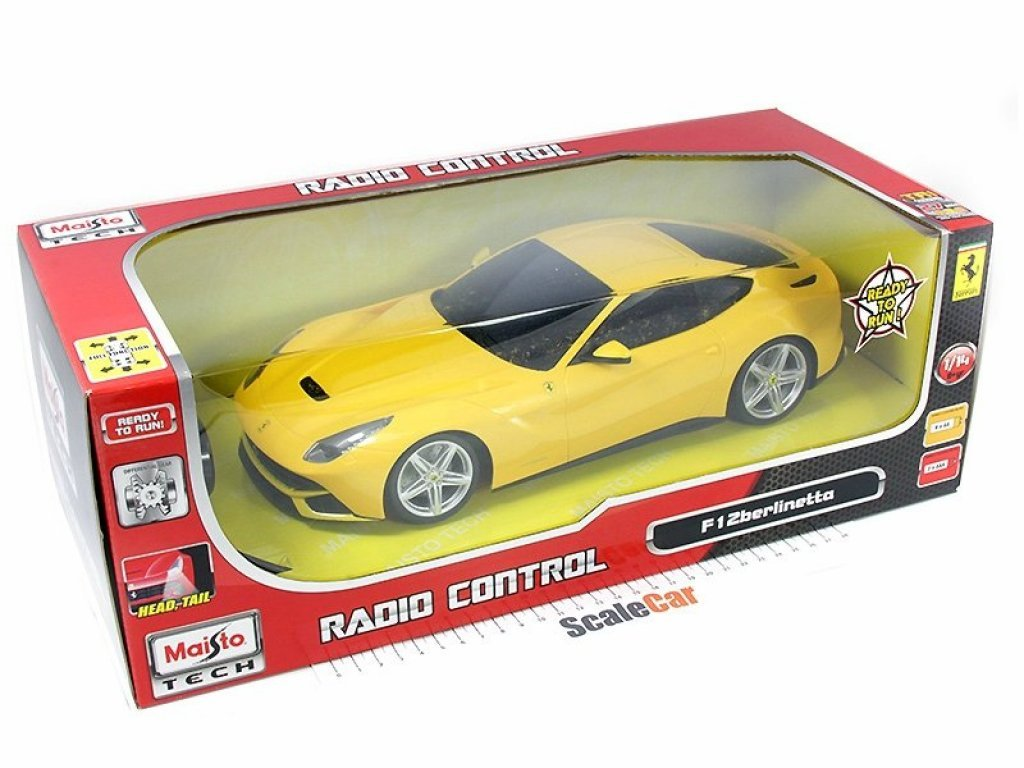 1:14 Maisto Ferrari F12 Berlinetta желтый (на радиоуправлении, горят фары)