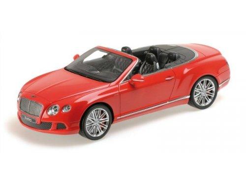 1:18 Minichamps BENTLEY CONTINENTAL GT SPEED CONVERTIBLE - 2013 красный