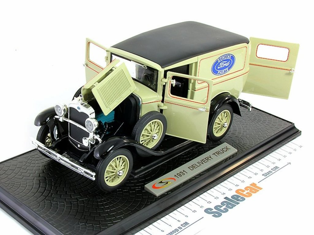 1:18 Signature Ford Model A Panel Delivery Truck 1931 бежевый