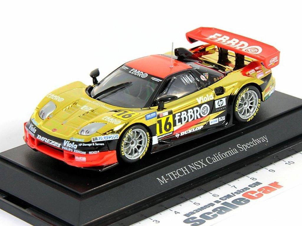1:43 Ebbro Honda NSX - Japan GT Championship 2004 #16 M-Tec Ebbro - Allstar 200, California Speedway
