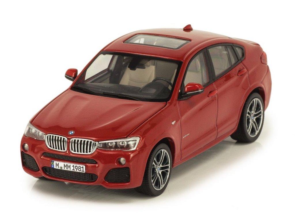 1:43 Herpa BMW X4 xDrive 3.5d F26 2014 красный мет