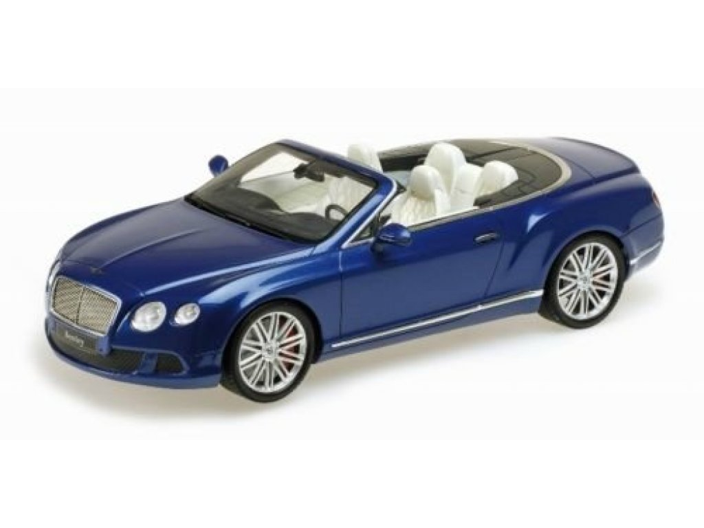 1:18 Minichamps BENTLEY CONTINENTAL GT SPEED CONVERTIBLE - 2013 синий