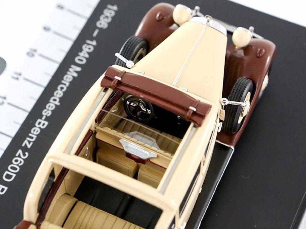 1:43 Esval Models Mercedes-Benz 260D Pullman Landaulet 1940 бежевый/коричневый