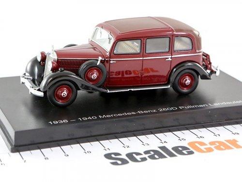 1:43 Esval Models Mercedes-Benz 260D Pullman Landaulet 1940 темно-красный