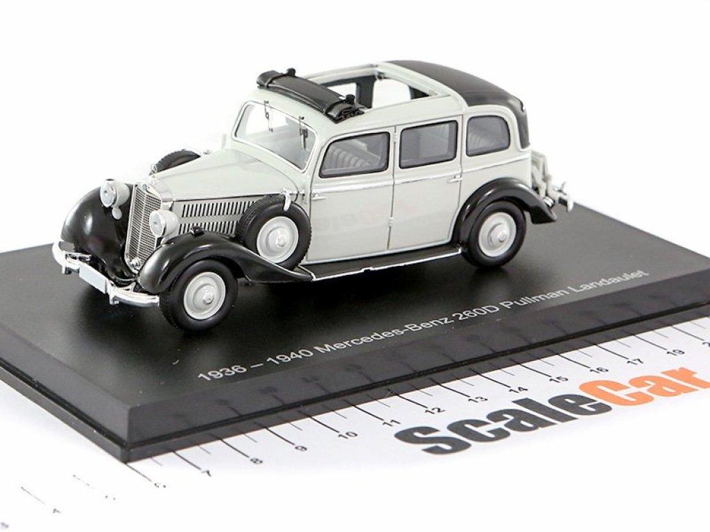 1:43 Esval Models Mercedes-Benz 260D Pullman Landaulet 1940 серый/черный