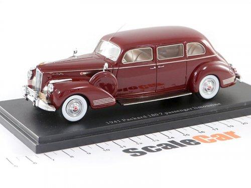 1:43 Esval Models Packard 180 7 Passenger Limousine 1941 вишневый