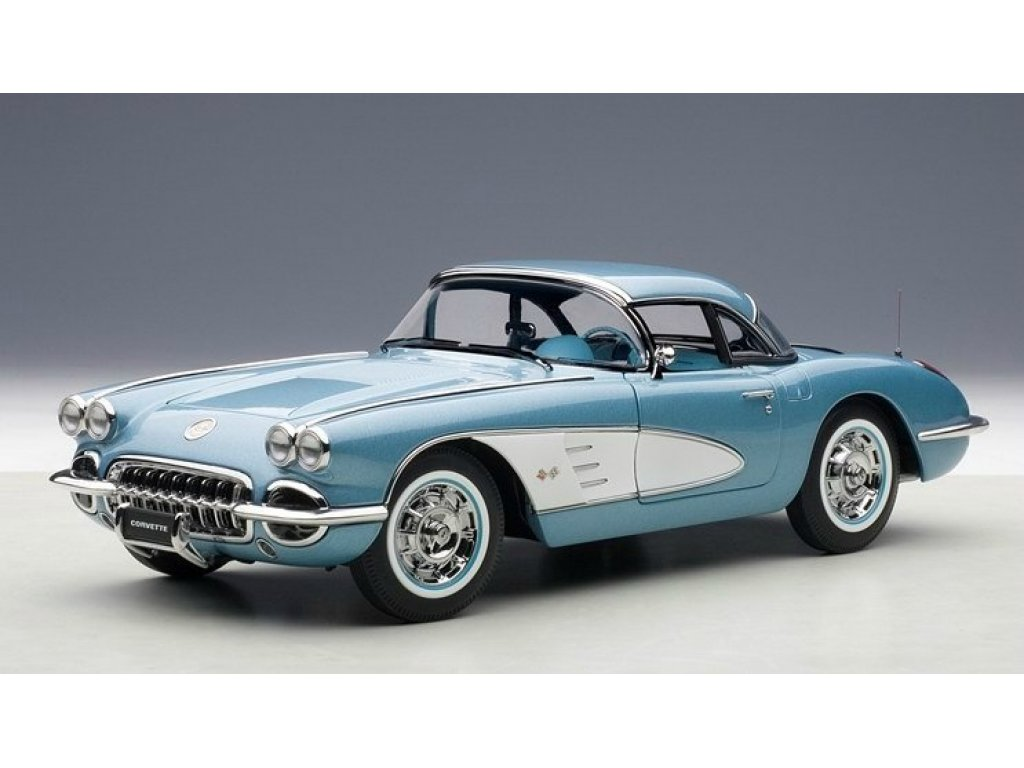 1:18 AUTOart Chevrolet Corvette 1958 (голубой)