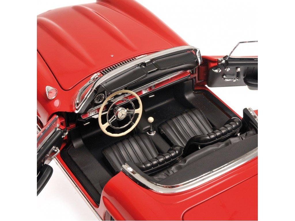 1:18 Minichamps Mercedes-Benz 300SL 1954 W198 Hardtop красный с жесткой крышей
