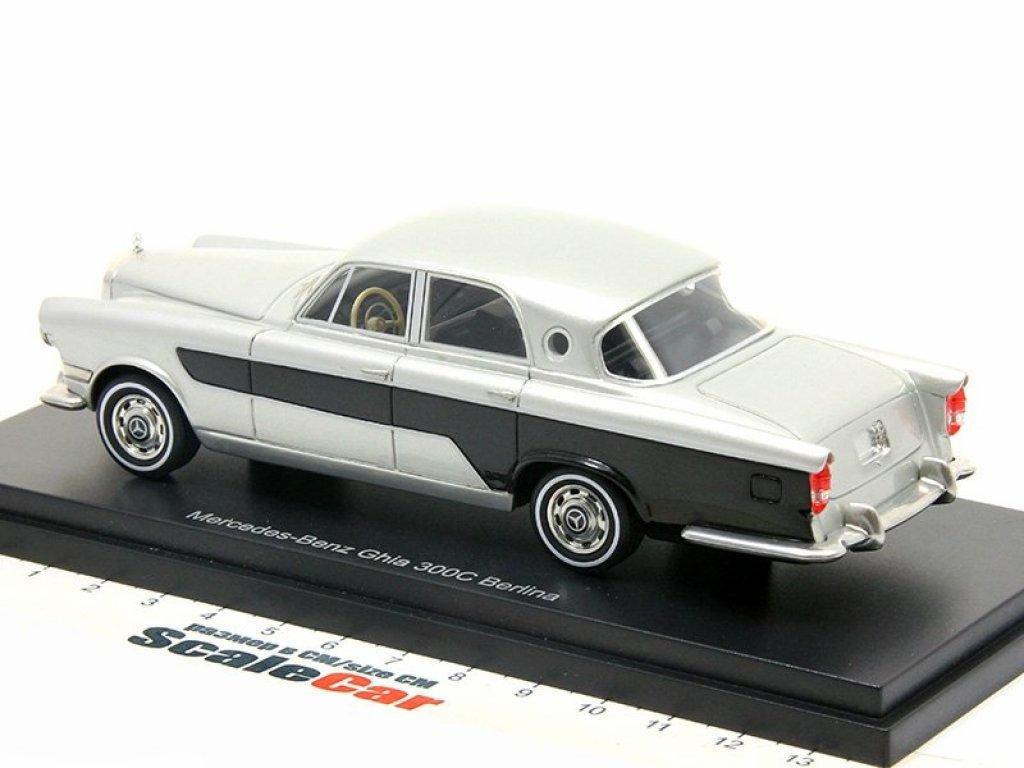 1:43 Best of Show Mercedes-Benz Ghia 300C Berlina 1956 серебристый/черный