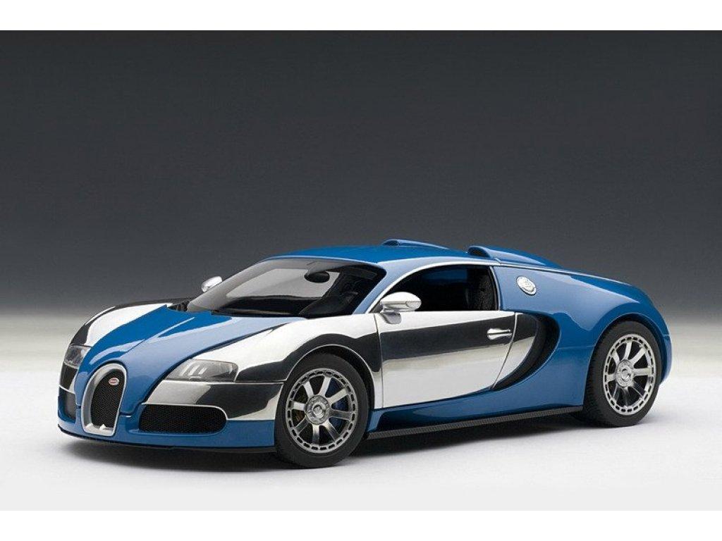 1:18 AUTOart Bugatti EB Veyron 16.4 LEdition Centenaire 2009 Jean-Pierre Wimille синий