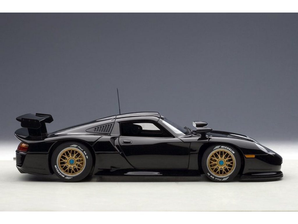 1:18 AUTOart Porsche 911 GT1 plain body version 1997 черный