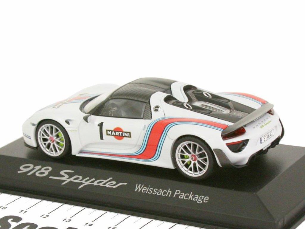 1:43 Spark Porsche 918 Spyder Wiessach package Martini белый