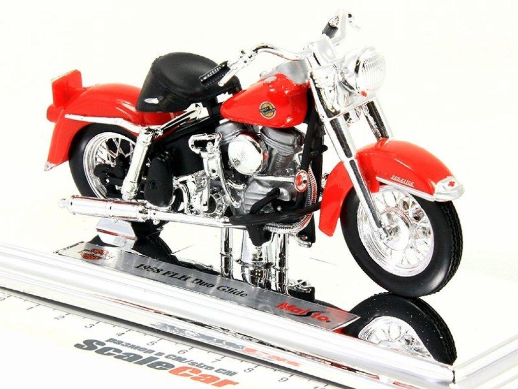 1:18 Maisto Мотоцикл Harley-Davidson FLH Duo Glide 1958 красный