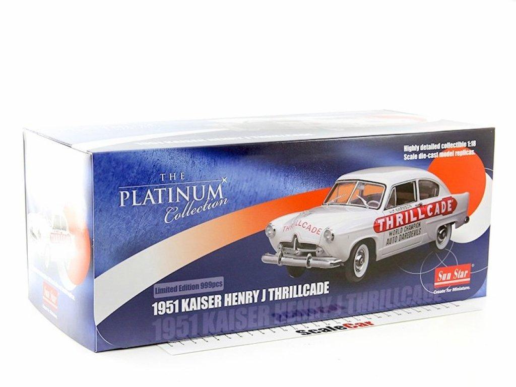 1:18 Sunstar Kaiser Henry J 1951 Thrillcade белый