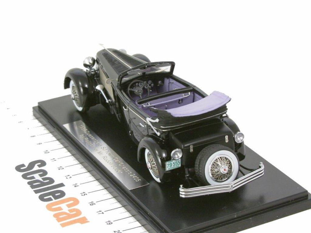 1:43 Esval Models Duesenberg SJ Town Car Chassis 2405 by Rollson for Mr. Rudolf Bauer 1937 fully open черный