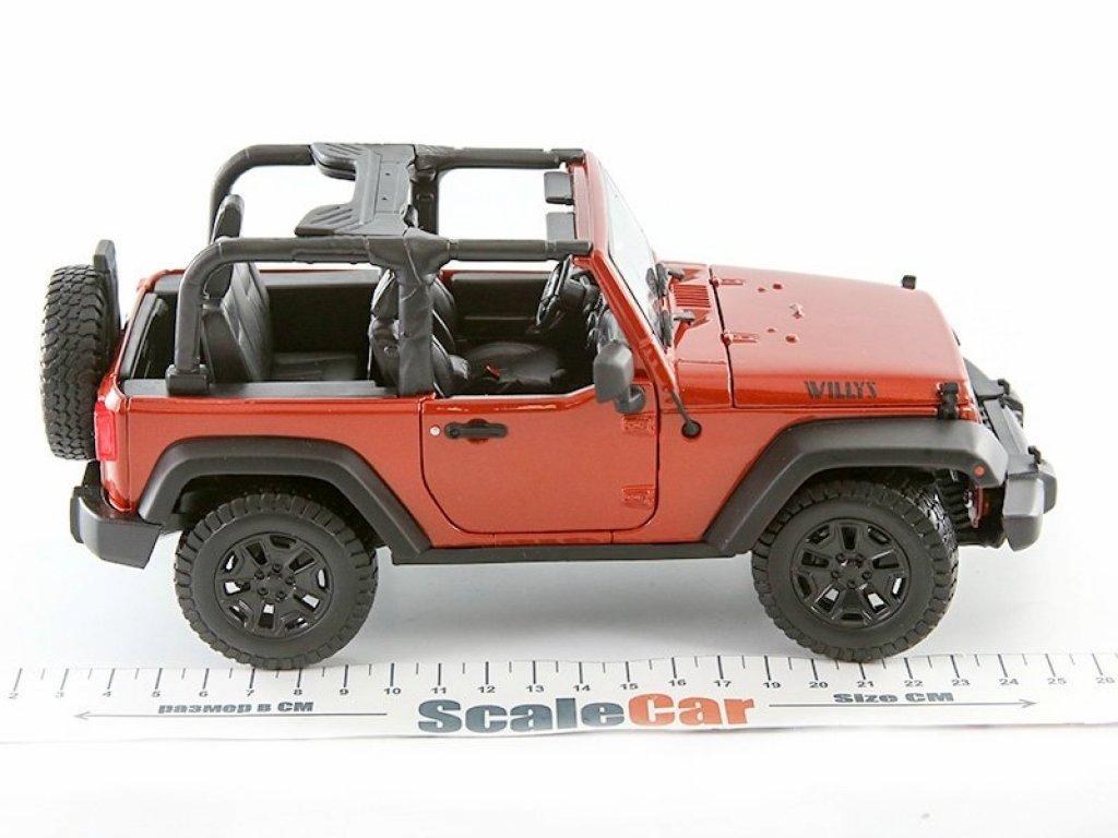 1:18 Maisto Jeep Wrangler 3d 2014 открытый медно-оранжевый мет