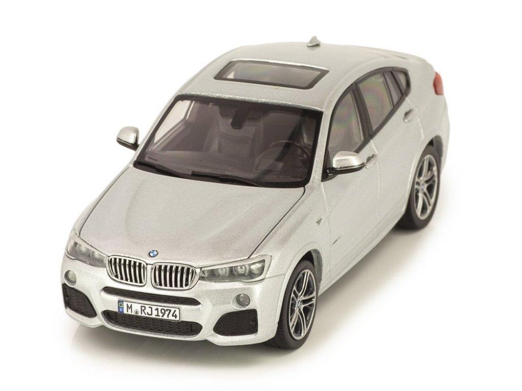 1:43 Herpa BMW X4 xDrive 3.5d F26 2014 серебристый